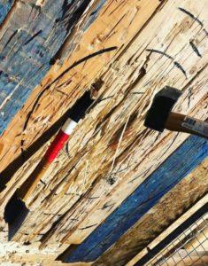 Lancer de hache à Barcelone