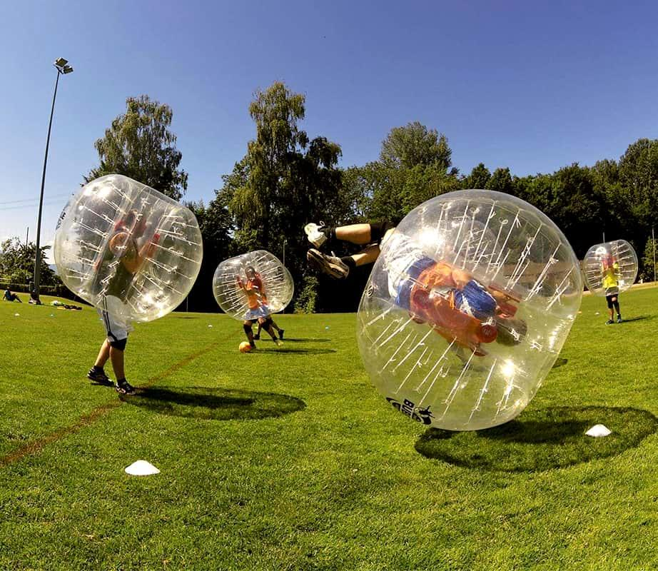 Bubble Football à Barcelone
