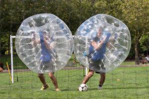 Activité de Bubble Foot à Barcelone