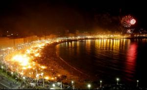 Nuit du feu à Barcelone