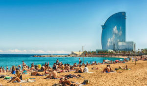 Soleil au printemps à Barcelone
