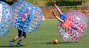 Activité bubble football en weekend EVG