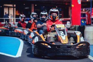 Karting à Barcelone pendant un EVG