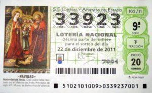 Lotterie El Gordo en Espagne