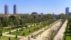 Le plus grand parc du centre de Barcelone : parc de la ciutadella