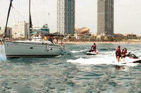activité evg jet ski voilier barcelone