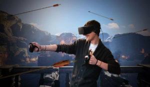 Tire à l'arc en réalité virtuelle